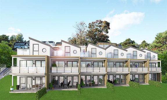 Spennende prosjekt med nydelig sjøutsikt og nærhet til sjøen - flere typer moderne leiligheter å velge mellom! 5 SOLGT!