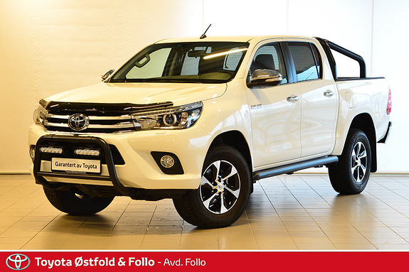 Toyota HiLux D-4D 150hk D-Cab 4WD SR+ aut  2018, 10455 km, kr 449000,-