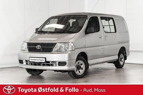 Toyota HiAce D-4D 5-d 117hk 4WD kort /ALLE SERVICE/REG.REIM BYTTES  2009, 79700 km, kr 188000,-