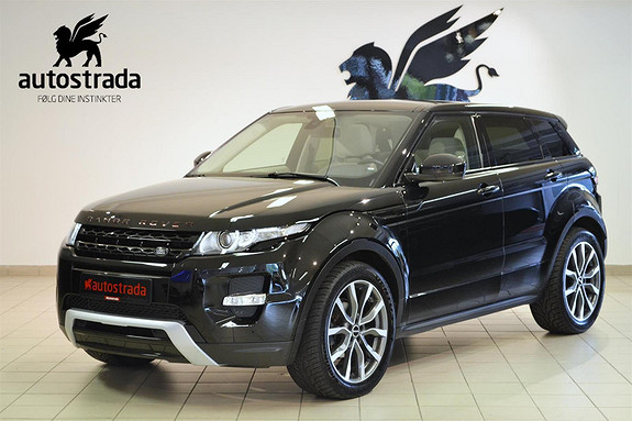Land Rover Range Rover Evoque 2.2 TD4 DYNAMIC & Prestige AWD, Navi, ryggekamera,  2014, 68000 km, kr 399000,-