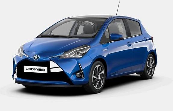 Toyota Yaris 1,5 Hybrid Style Glasstak Delskinn TOPPMODELL  2017, 18618 km, kr 229000,-