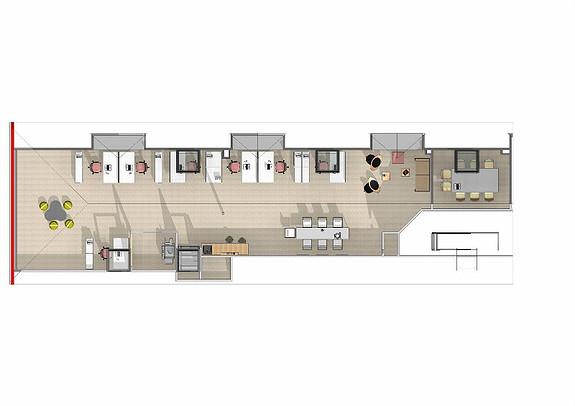 Forslag til innredning 3 etg. 154 m2.