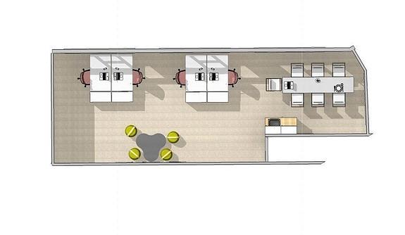Forslag til innredning 2 etg. 57 m2.