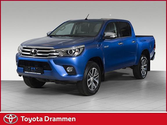 Toyota HiLux D-4D 150hk D-Cab 4WD SR+ aut PEN BIL TOPP MODELL SKINN.  2017, 13500 km, kr 419000,-