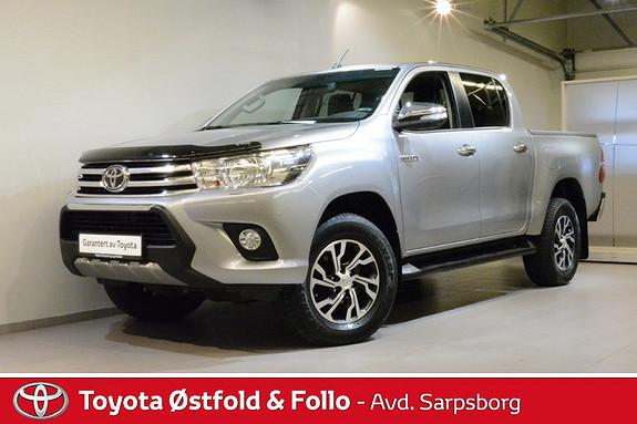 Toyota HiLux D-4D 150hk D-Cab 4WD SR , 3500 KG TILH.VEKT,  2016, 37400 km, kr 358000,-
