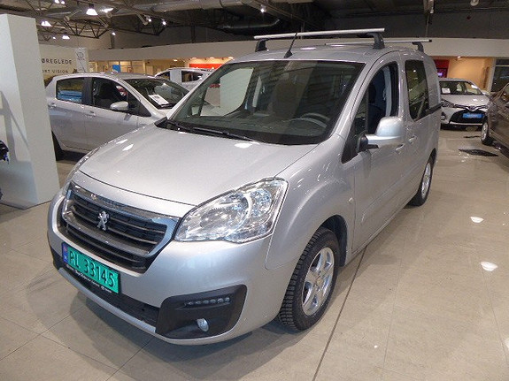 Peugeot Partner Mester 1,6 BlueHDi 100hk ETG6 L1  2018, 6600 km, kr 189000,-