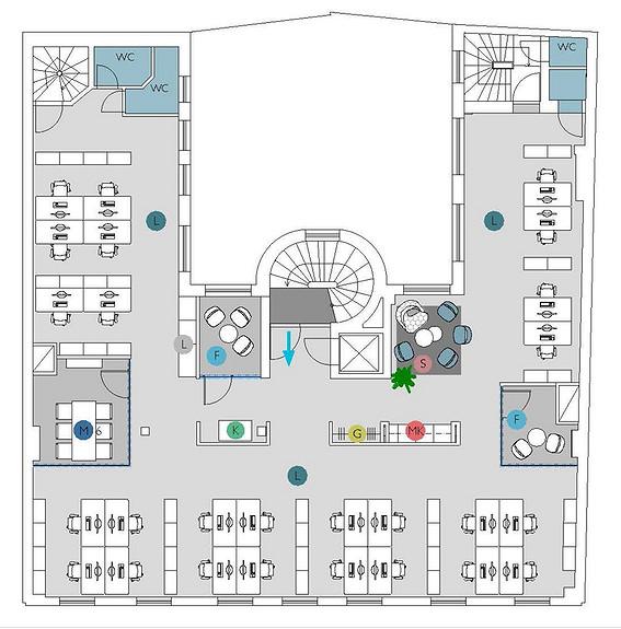 Plantegning 5. etasje