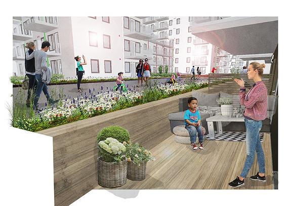 Plantegning som viser leilighet E01 - 02