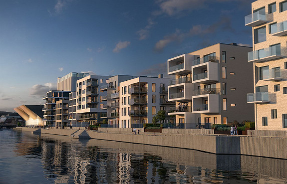Kanalbyen trinn 2 - Flotte leiligheter helt i vannkanten!