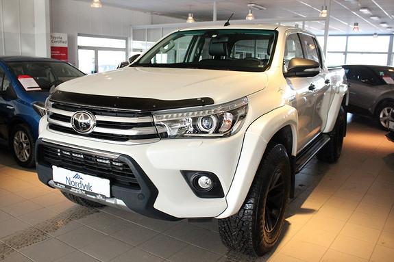 Toyota HiLux D-4D 150hk D-Cab 4WD SR+ AT 35, Ryggekamera, Skinn ++  2016, 20500 km, kr 629000,-