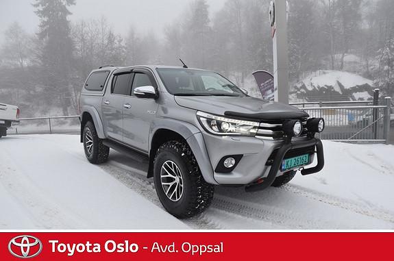 Toyota HiLux D-4D 150hk D-Cab 4WD SR+ aut , PÅSKETILBUD! AT37,  2016, 8302 km, kr 649000,-