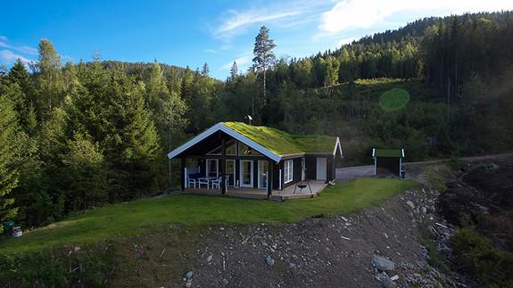 Nøkkelferdig hytte med tomt. Utsikt mot Gaustatoppen
