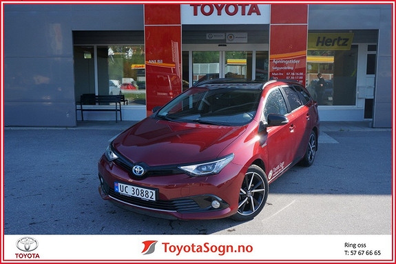 Toyota Auris Touring Sports 1,8 Hybrid Black Edition  2017, 7000 km, kr 309000,-