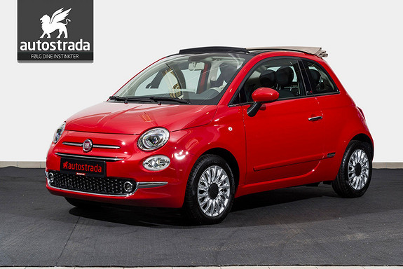 Fiat 500 Cabriolet Lounge KAMPANJE 0,99% Rente  2017, 100 km, kr 229000,-