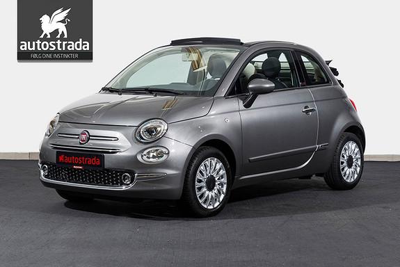 Fiat 500 Cabriolet Lounge KAMPANJE 0,99% Rente  2017, 100 km, kr 219000,-