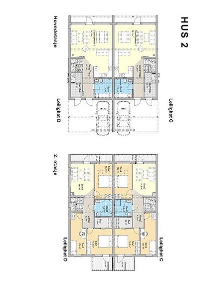 Plantegning som viser leilighet 3 D