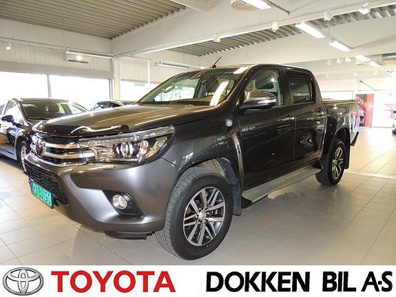 Toyota HiLux D-4D 150hk D-Cab 4WD SR+ aut Tectylert  2017, 25000 km, kr 419000,-