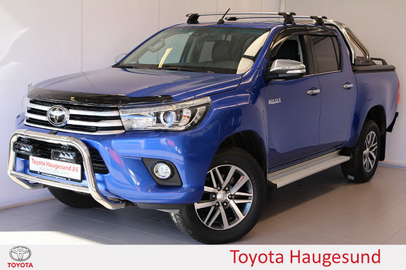 Toyota HiLux D-4D 150hk D-Cab 4WD SR+ aut Skinn, kamera, TECTYL  2017, 6239 km, kr 479000,-