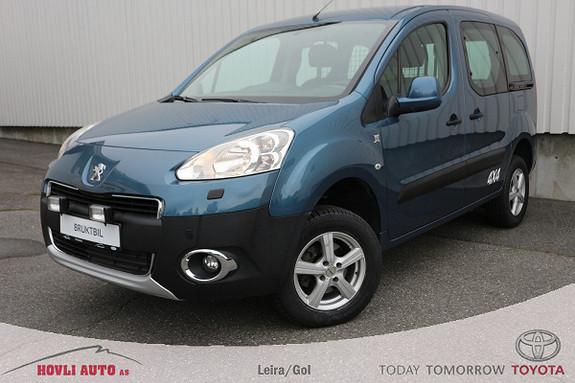 Peugeot Partner Tepee 1,6 HDi 92hk 4x4 / Motor- og kupévarmer / Garanti  2012, 161621 km, kr 79900,-