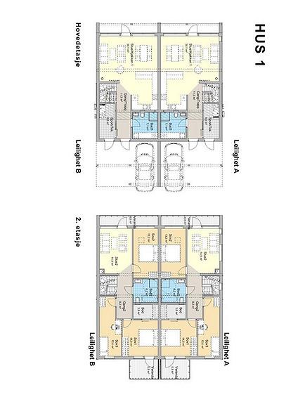 Plantegning som viser leilighet 3 B