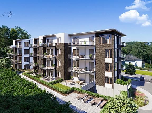 Amalienborg Aveny 4 - Siste byggetrinn - 20 leiligheter med romslige sørvestvendte balkonger - gjennomgående leiligheter
