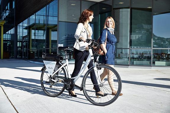 Våre leietakere kan låne el-bil, el-sykkel og vanlig sykkel!