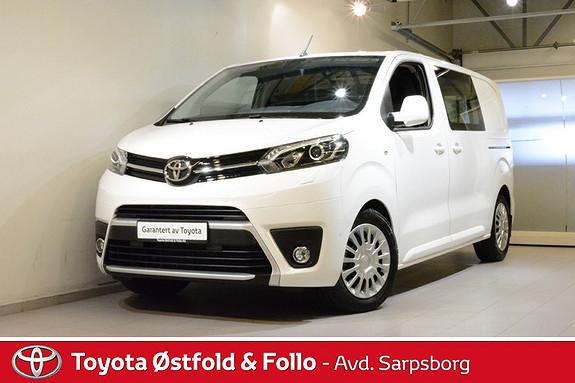 Toyota Proace 1,6 D 116 Comfort 360 Visio L1H1 , SMART-CARGO/XENON,  2018, 10200 km, kr 288000,-