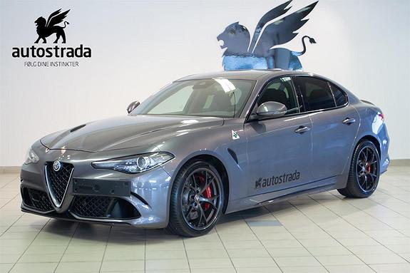 Alfa Romeo Giulia 2,9 Bi-Turbo V6 Quadrifoglio  2017, 4100 km, kr 999000,-