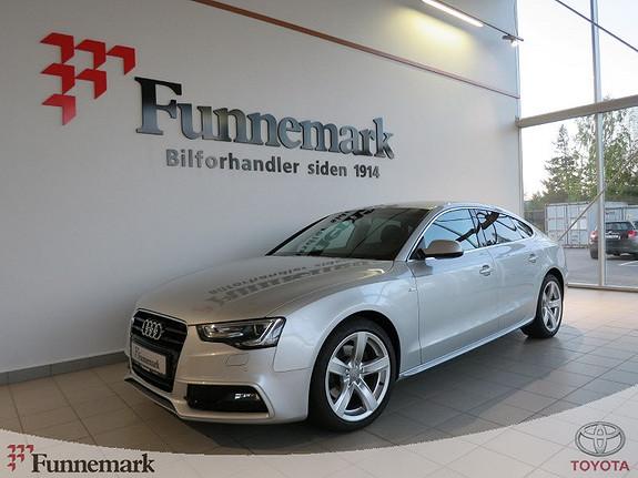 Audi A5 Sportback 2,0 TDI 177 hk multitronic / Lav Km, Navi,+++  2013, 53600 km, kr 289900,-