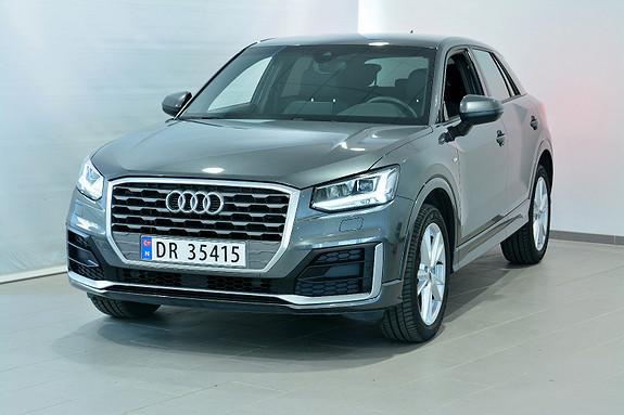 Audi Q2 150 TFSI S TRONIC SPORT 2 x S line, LED, Webasto, Navi  2018, 17500 km, kr 419000,-