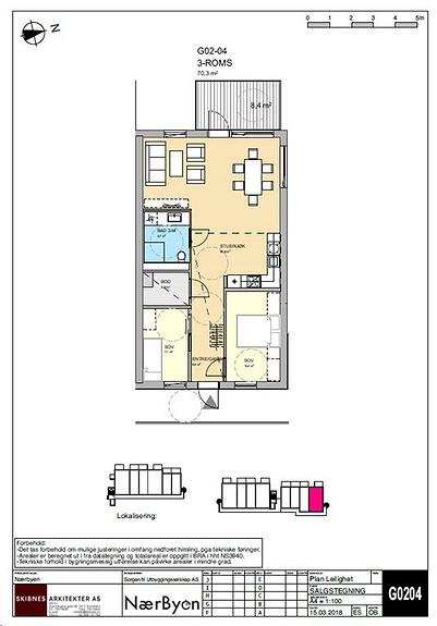 Plantegning som viser leilighet G02 - 04