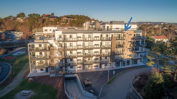Visning: 27/2 - Ny 3-roms leilighet (H0502) med parkering i kjeller og heis i bygget - Usjenert balkong mot sør-øst