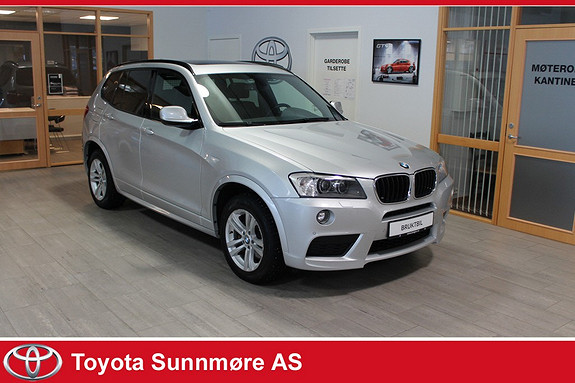 BMW X3 xDrive20d 163hk aut **LAV KM**NORSK BIL**MYE UTSTYR**DA  2014, 66107 km, kr 389000,-