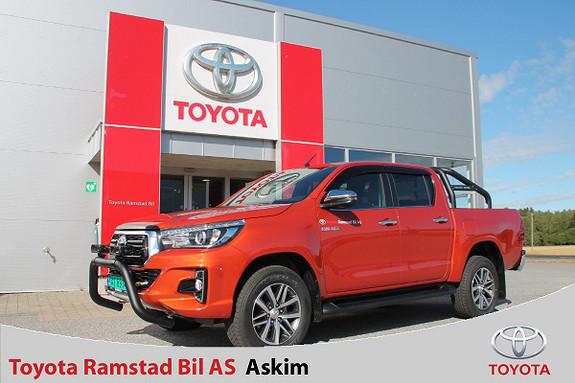Toyota HiLux D-4D 150hk D-Cab 4WD SR+ Inv X aut  2018, 7800 km, kr 459000,-