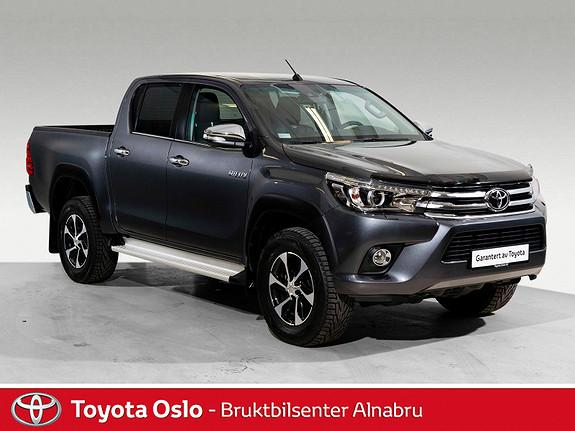 Toyota HiLux D-4D 150hk D-Cab 4WD SR+ aut Toppmodell  2018, 5901 km, kr 438900,-
