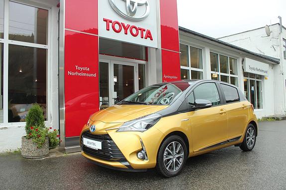 Toyota Yaris 1,5 Hybrid e-CVT Bi-Tone, TECTYLBEHANDLA, DEMOBIL  2019, 8500 km, kr 237000,-