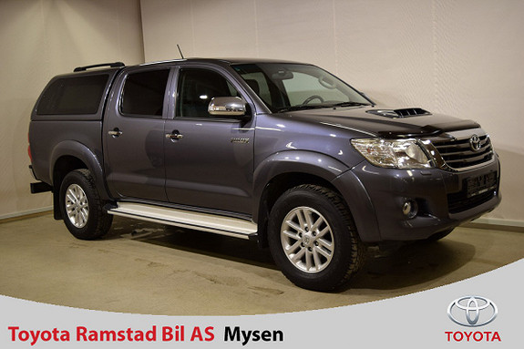 Toyota HiLux D-4D 143hk D-Cab 4wd SR+ , Glassfibertopp,  2013, 186800 km, kr 235000,-