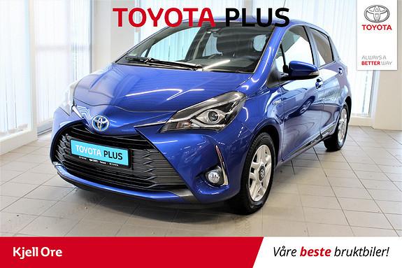 Toyota Yaris 1,5 Hybrid Y20+ e-CVT aut Navi, dab+, Ryggekamera ++  2019, 17125 km, kr 239000,-