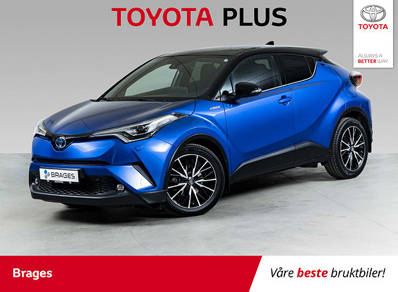 Toyota C-HR 1,8i Hybrid Lounge Tech AdaptCruise, DAB, LED  2018, 19 100 km, kr 285 000,-