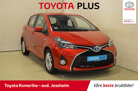 Toyota Yaris 1,5 Hybrid Active S e-CVT Navigasjon, DAB+, Autolys  2016, 25126 km, kr 169000,-
