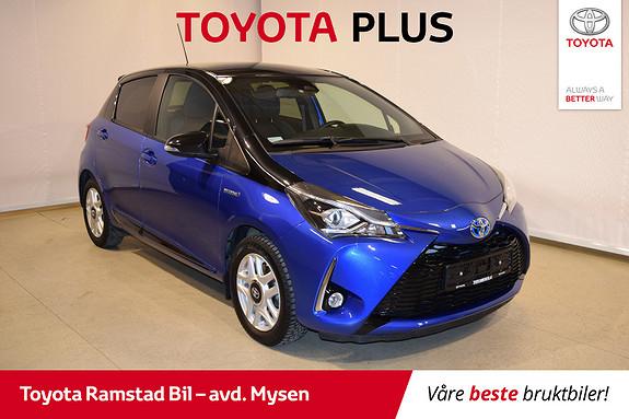 Toyota Yaris 1,5 Hybrid Bi Tone Blue e-CVT aut  2018, 34600 km, kr 209000,-