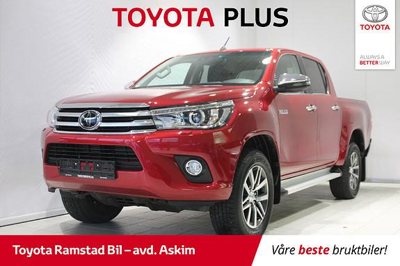 Toyota HiLux D-4D 150hk D-Cab 4WD SR+ aut  2018, 31249 km, kr 399000,-