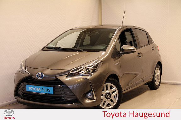Toyota Yaris 1,5 Hybrid Y20+ e-CVT aut Navi, kamera, LAV KM, Tectyl  2019, 5351 km, kr 219000,-