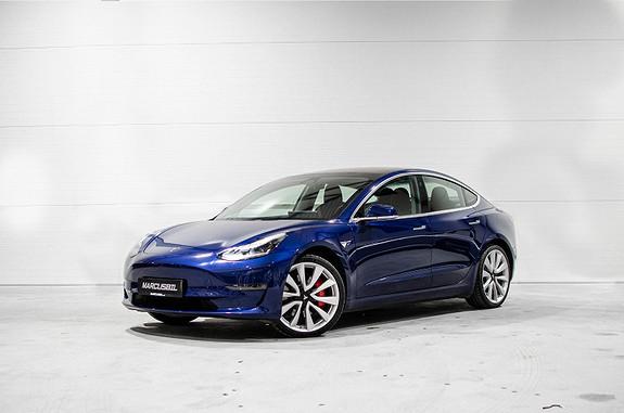Tesla Model 3 PERFORMANCE AP/HIFI/VINTER/20&18  2019, 5000 km, kr 529999,- image