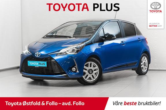 Toyota Yaris 1,5 Hybrid Bi Tone Blue e-CVT aut  2018, 32939 km, kr 195000,-
