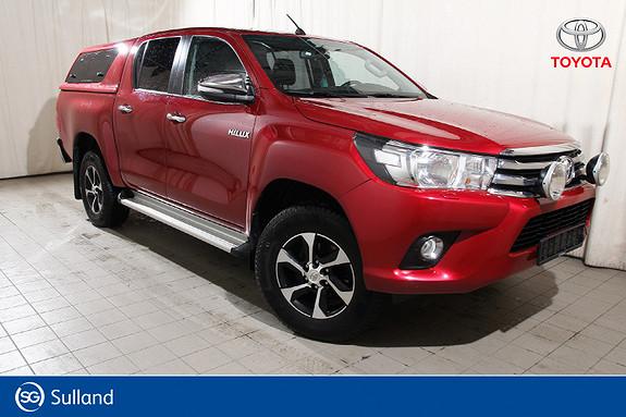 Toyota HiLux D-4D 150hk D-Cab 4WD SR 1T aut Lys - Hardtop - Krok  2016, 44886 km, kr 359900,-