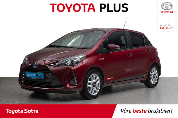 Toyota Yaris 1,5 Hybrid Y20+ e-CVT aut  2019, 17000 km, kr 229000,-