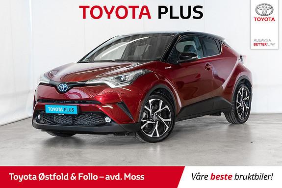 Toyota C-HR 1,8i Hybrid Lounge Tech / LED / BITONE / GPS / GARANTI  2019, 16700 km, kr 339000,-