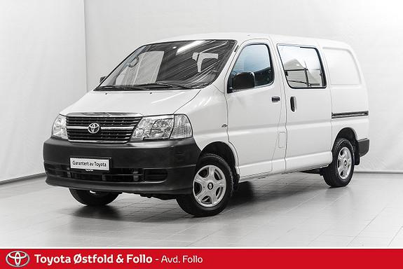 Toyota HiAce D-4D 5-d 117hk 4WD kort / PEN BIL /  2011, 136241 km, kr 199000,-