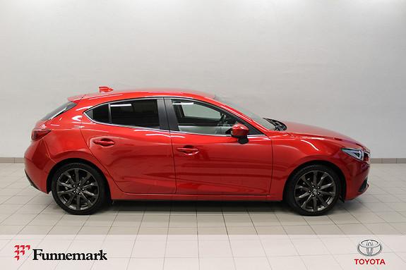 Mazda 3 2,0 120hk Optimum /Skinn /Navi /Ryggek. /DAB+ /BOSE m.m  2014, 78000 km, kr 148000,-